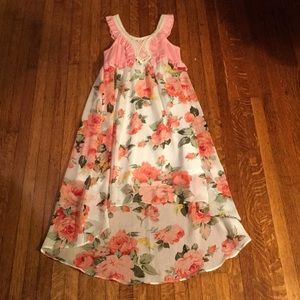 Truly Me floral high low dress
